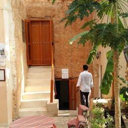 Eingangstür des Misfat Old Houses