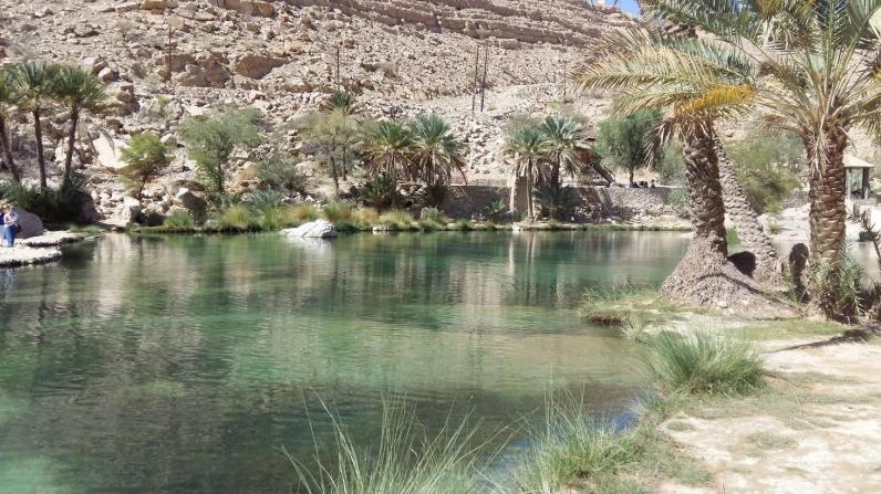 Pool im Wadi Bani Khalid