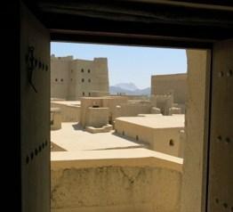 Blick auf die Festung in Bahla