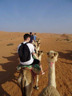 Kamelritt iin der Wüste