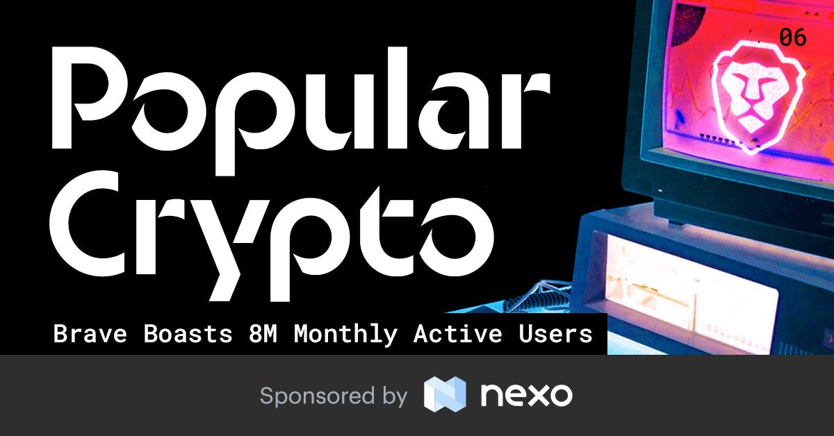Nomics Popular Crypto Issue 6 - Brave Boasts 8m Monthly Active Users