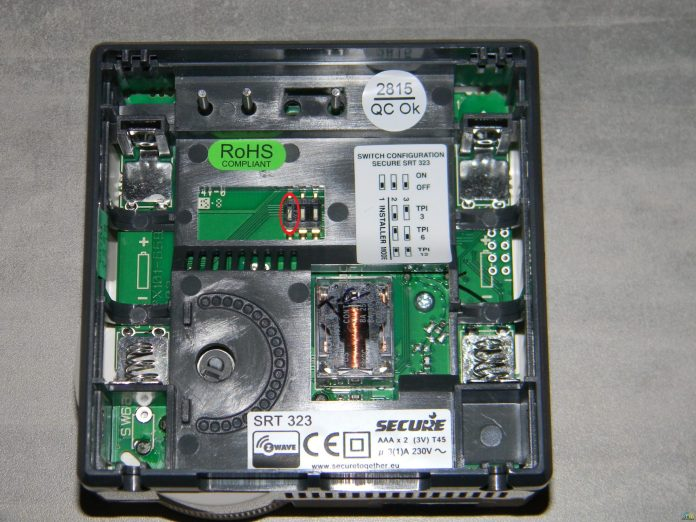 2 Test du Thermostat SRT323 sur Vera Edge
