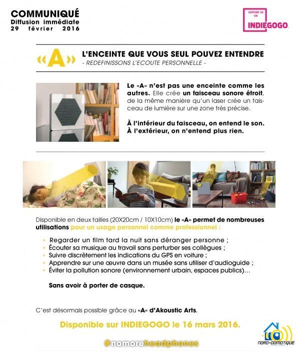 1 Enceinte 'A' Speaker - Disponible sur Indiegogo