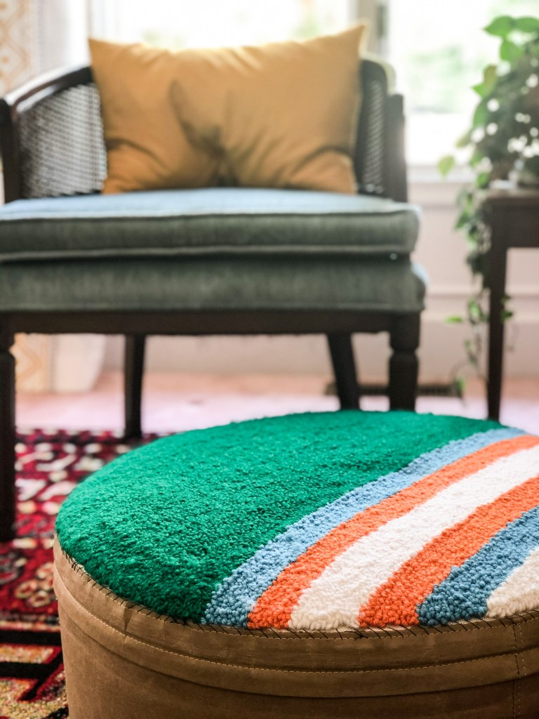 Punch needle projects ottoman