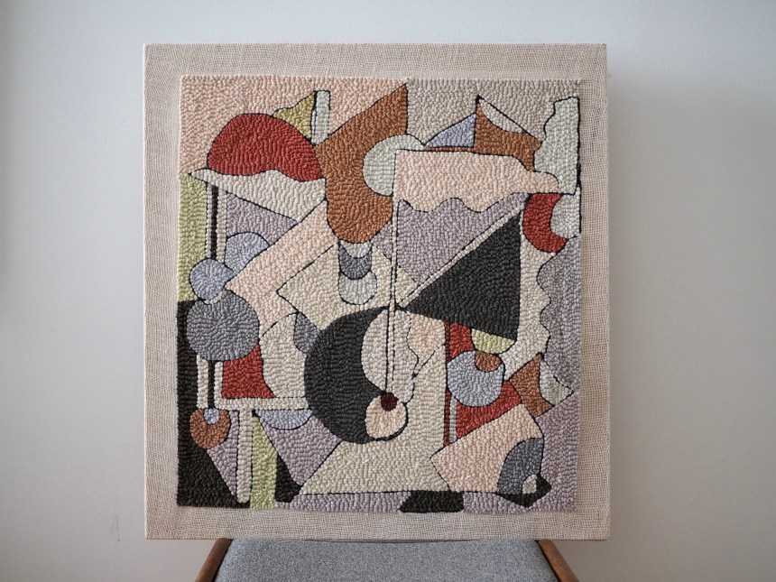 Abstract Punch Needle art piece by Rose Pearlman