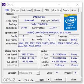 CPU Z - Prozessor