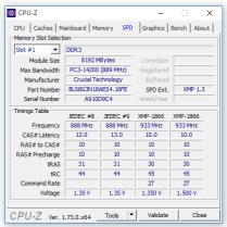 CPU Z - SPD (Arbeitsspeicher)