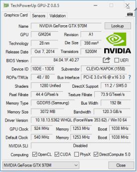 GPU Z - nVidia Grafik