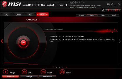 Hier könnt ihr die Game Boost Funktion aktivieren