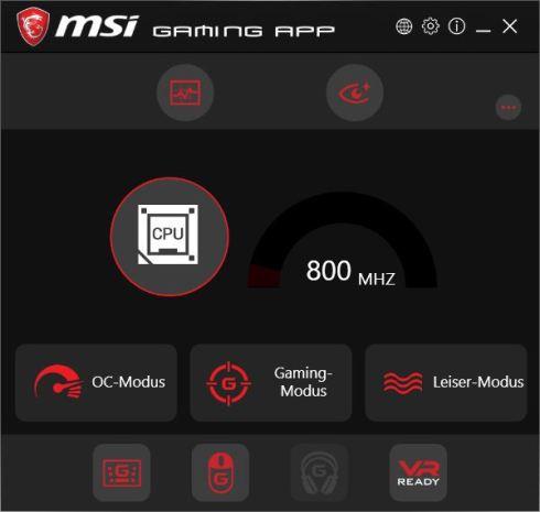 Verschiedene Presets stehen in der MSI Gaming App bereit