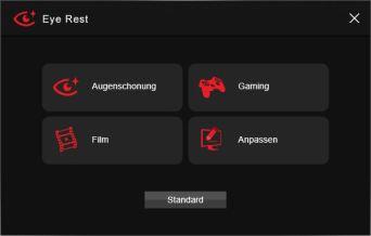 Auch für den Bildschirmmodus gibt es diverse Auswahlmöglichkeiten