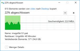 Nebenraum, gemischte Dateien