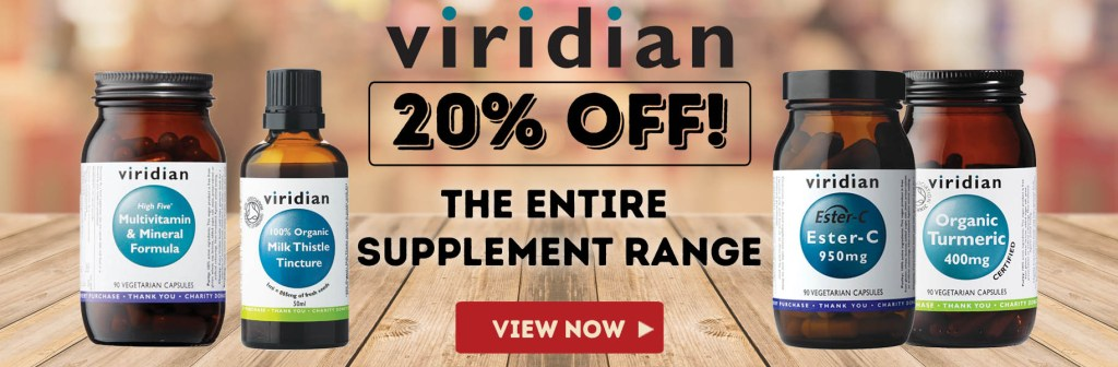 Save 20% on Viridian Supplements
