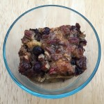 Paleo Baked French Toast with Blueberries, Chocolate Chips & Pecans