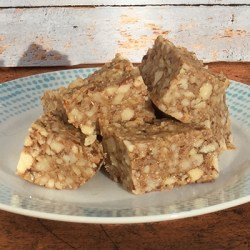 A picture of Paleo Rice-Less Krispie Treats – good for a detox diet.