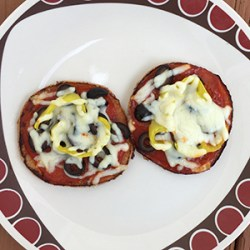 Yummy low carb Keto pizza on the plate, ready to eat.