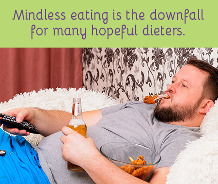 top 10 ways to NOT gain weight - eat mindfully, not mindlessly