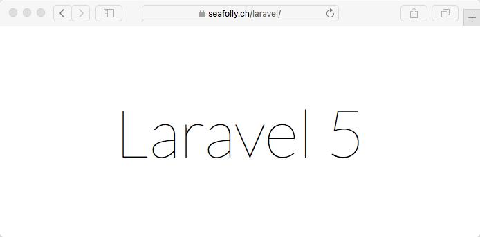 Laravel Framework im Webhosting Paket nutzen