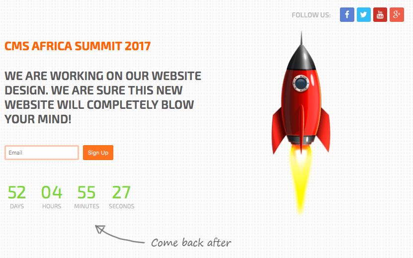 Countdown für ein neues Projekt
