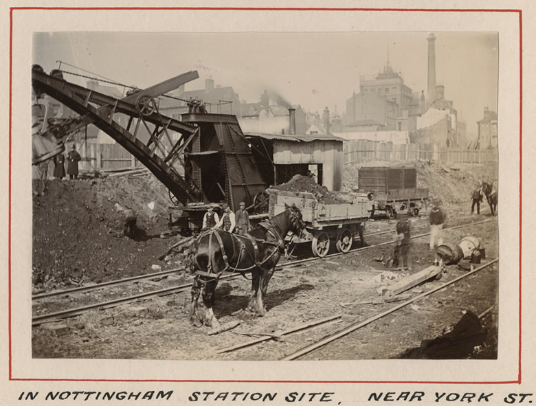 By the 1890s some of the backbreaking work of the navvies had been taken over by steam powered mechanical shovels