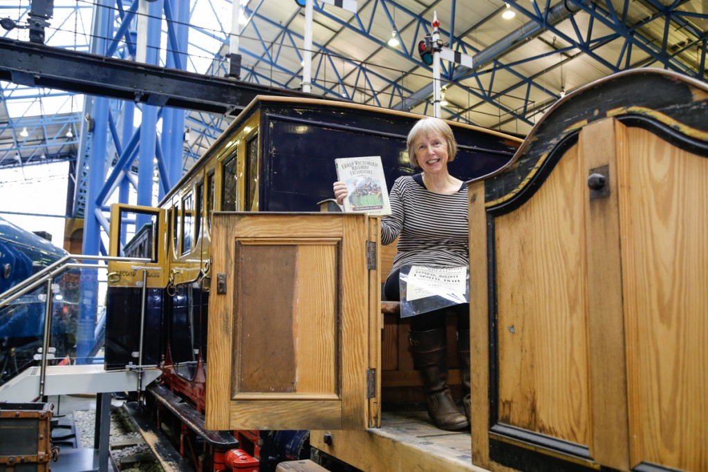 A promotional shot of me in the museum's Bodmin and Wadebridge open carriage