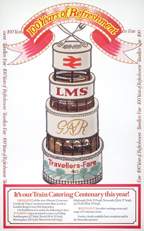 British Railways Poster to mark 100 Years of Refreshment - It's our Train Catering Centenary This Year! 1979