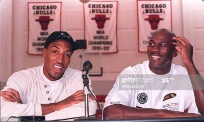 Michael Jordan and Scottie Pippin