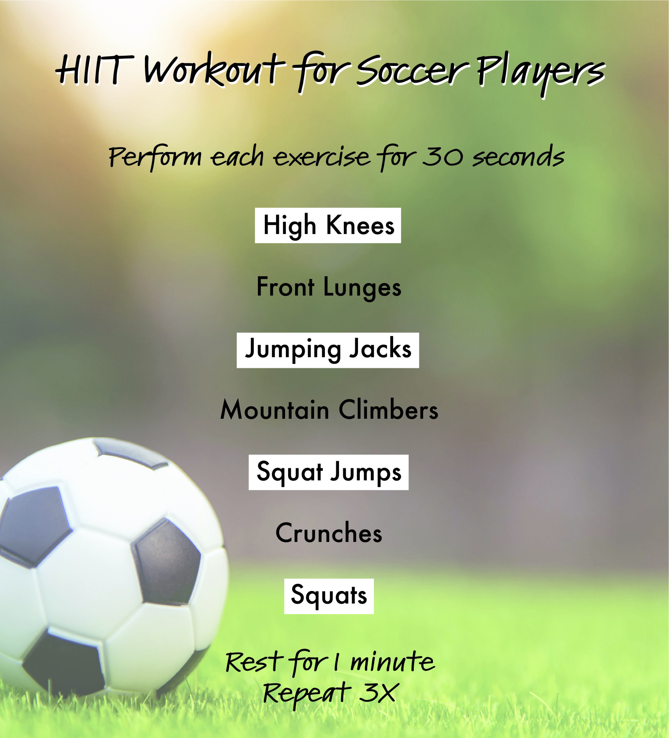 soccer hiit workout
