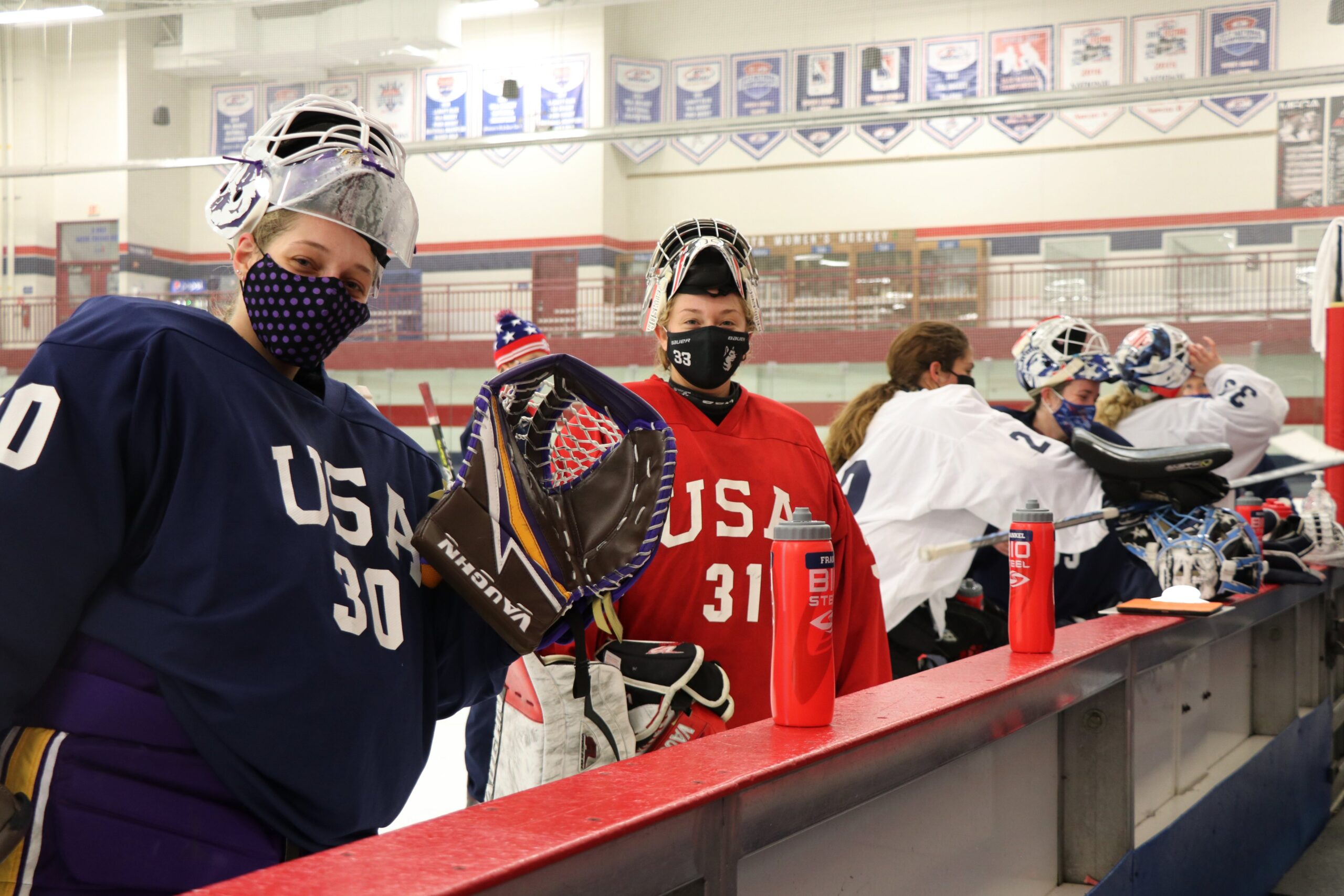 The USWNT returned to the NSC Super Rink for an evaluation camp.