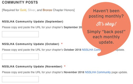 Chapter Honors Community Post Hint