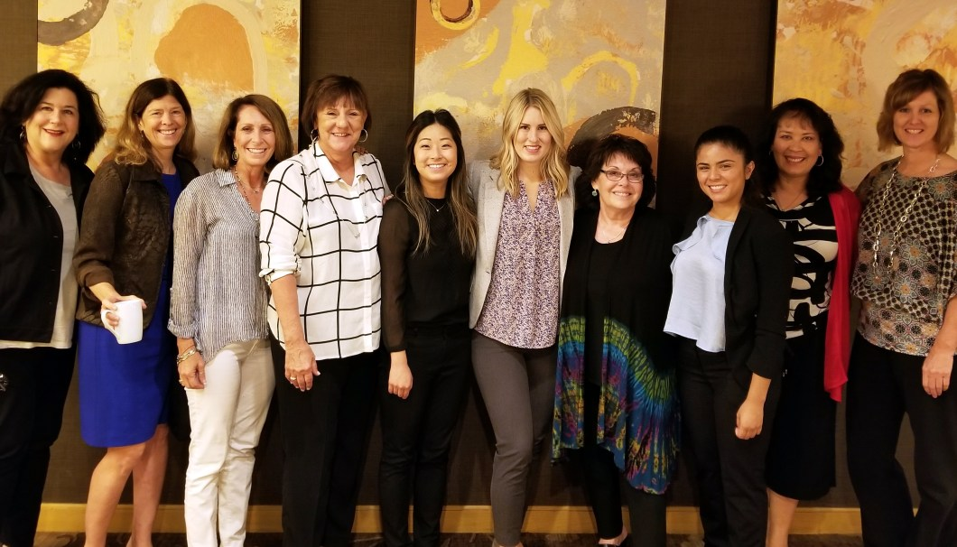 Crystal Garcia (3rd from right) and students with CSHA District Directors and Executive Board Members
