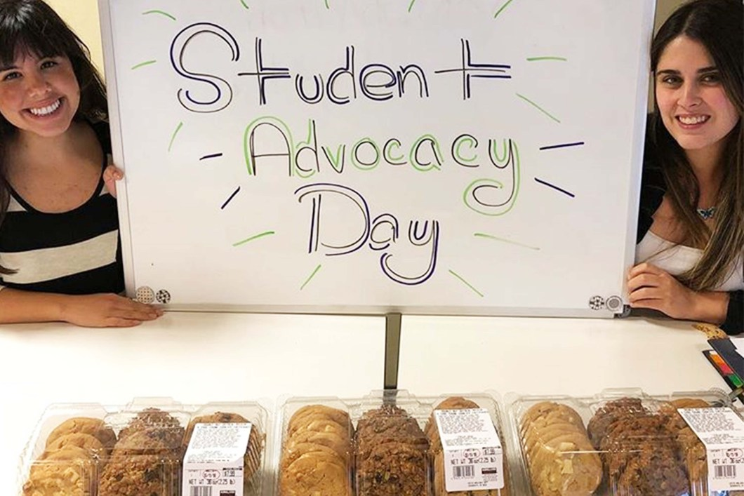 CSD students at CSU-Sacramention promote Student Advocacy Day