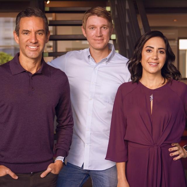 David Vélez, Edward Wible y Cristina Junqueira, los fundadores de Nu