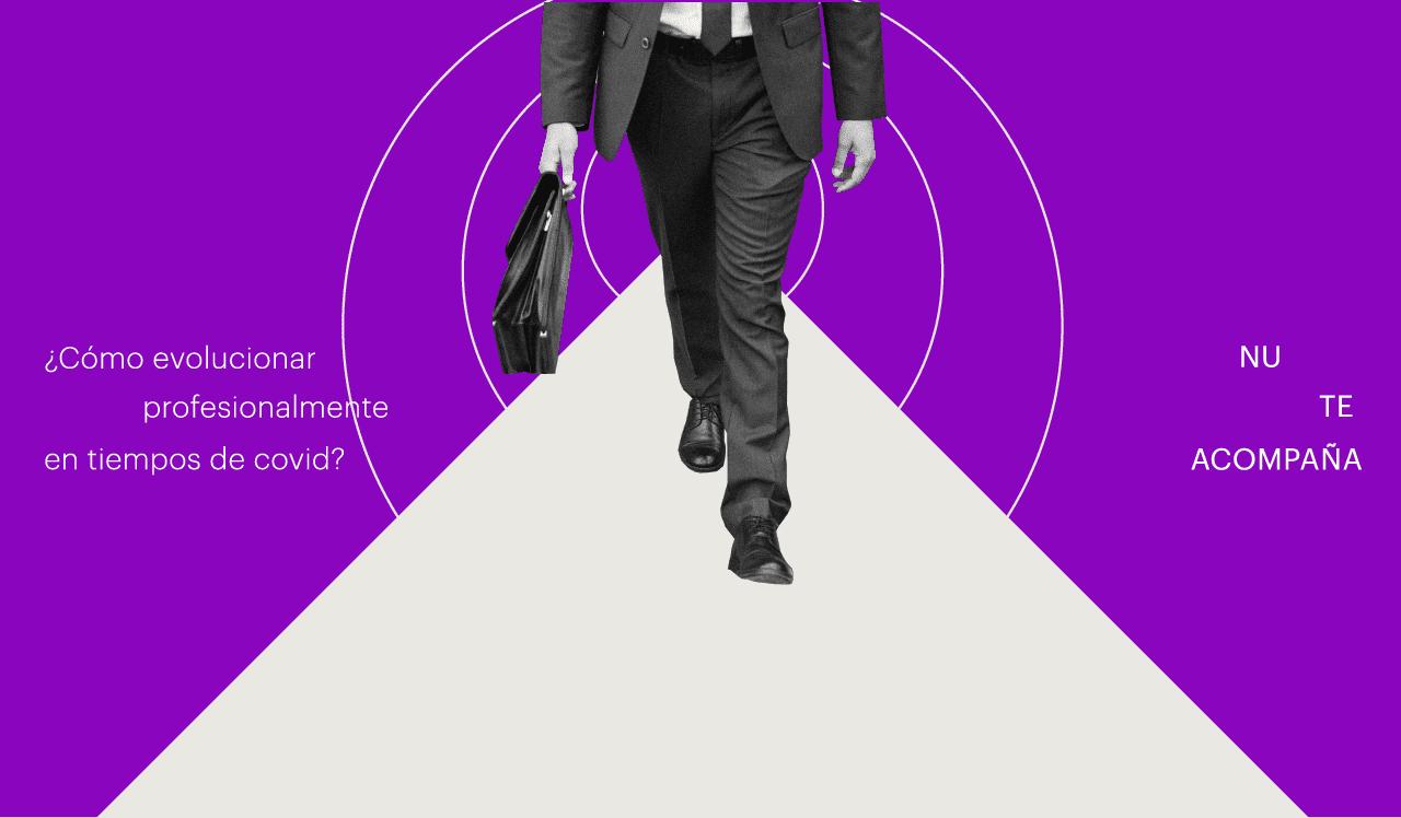 hombre camino con portafolio por situación laboral en tiempos de Covid-19