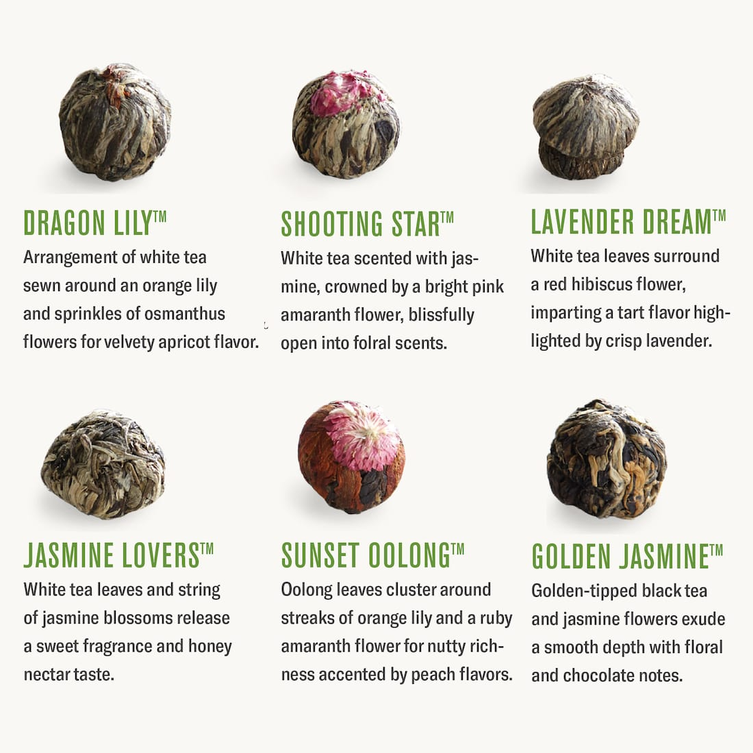 flowering tea blossom flavors