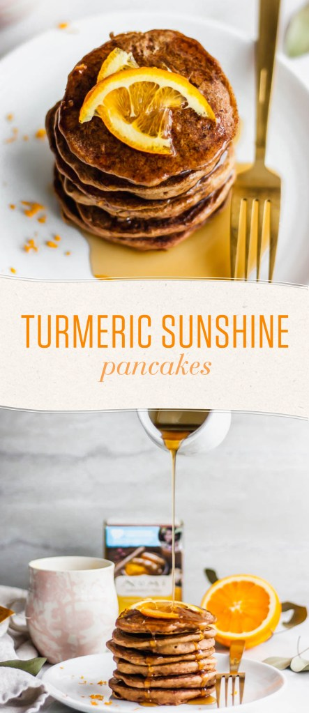 Wake up those taste buds by infusing your breakfast pancakes with anti-inflammatory Turmeric Golden Tonic Tea and fresh citrus.