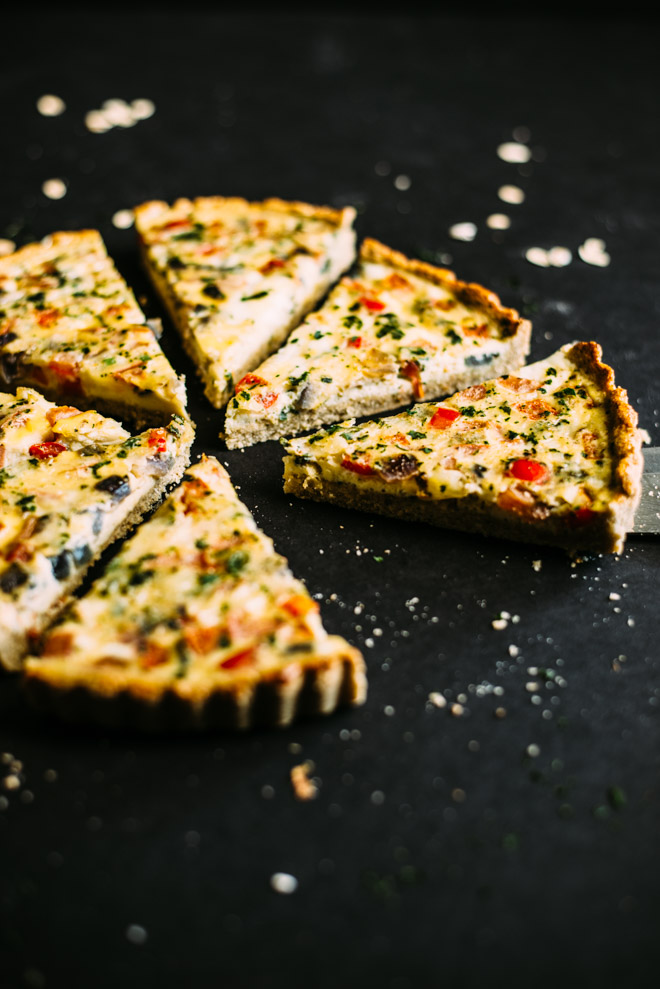 Mexican Quiche with Oat and Almond Crust | Healthy Nibbles & Bits