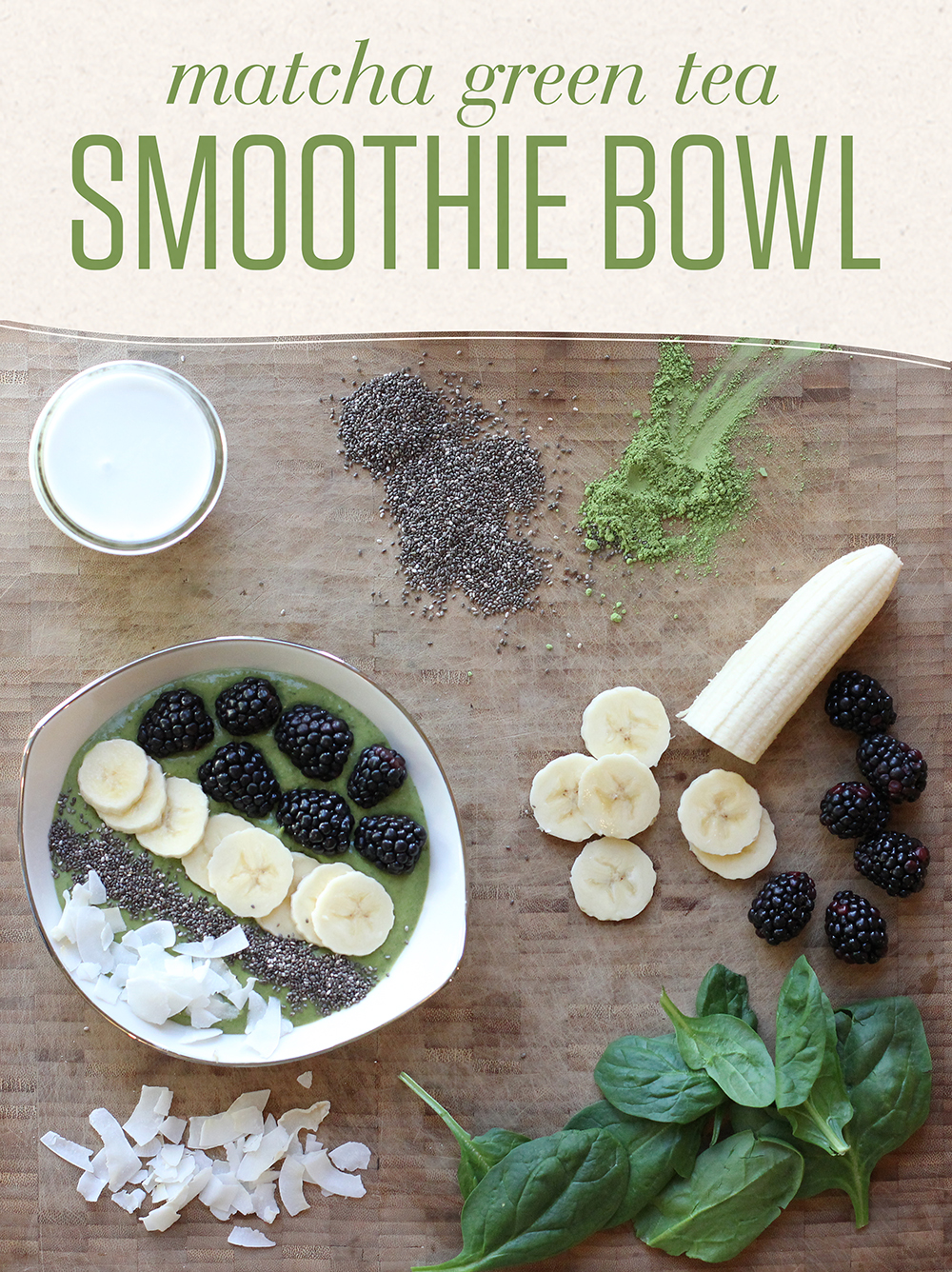Supercharge your mornings with a matcha smoothie bowl!