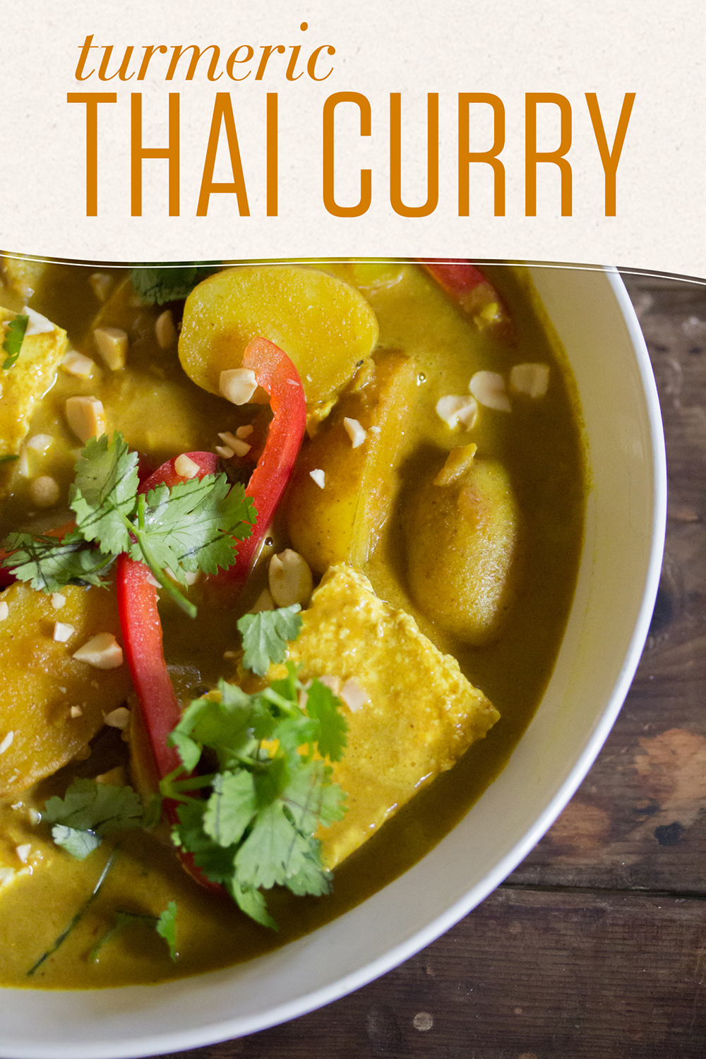 The secret to this vegan Turmeric Thai Curry is Numi's Turmeric Chai Golden Latte powder, an easy way to add spice and robust flavor.