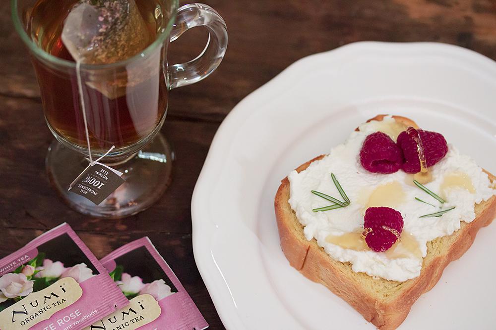 Tea and Toast Pairings - Ricotta Rosemary