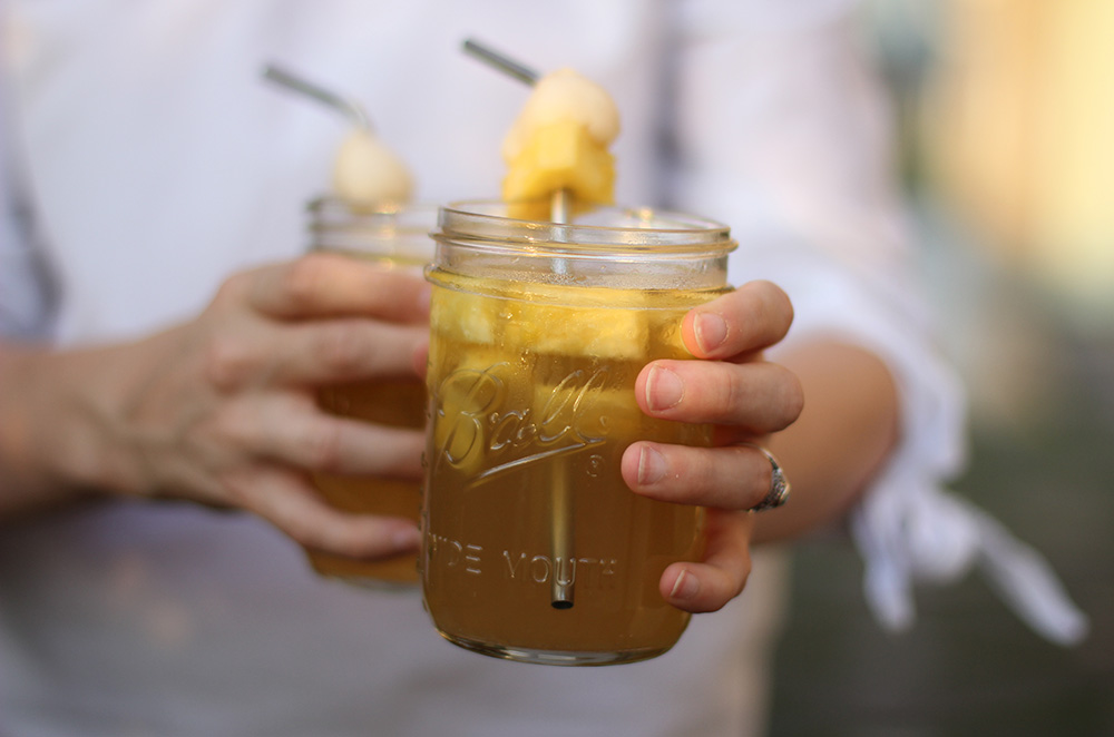 Lychee Asian Iced Tea Cocktail