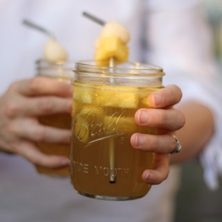 Sake-Spiked Lychee Iced Tea