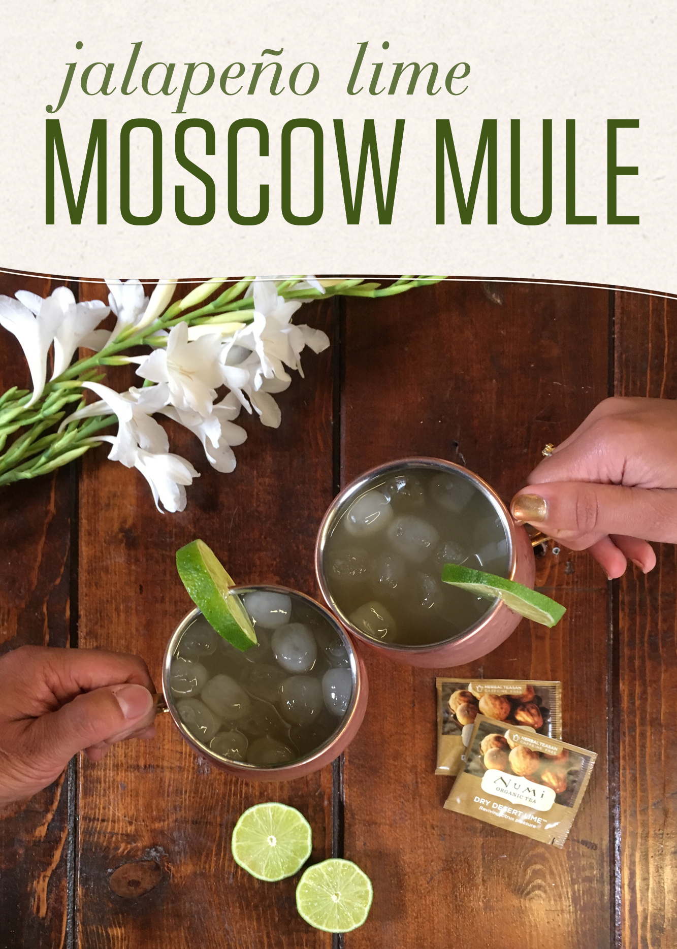 Kickin' Moscow Mule with Jalapeño Lime Infused Vodka