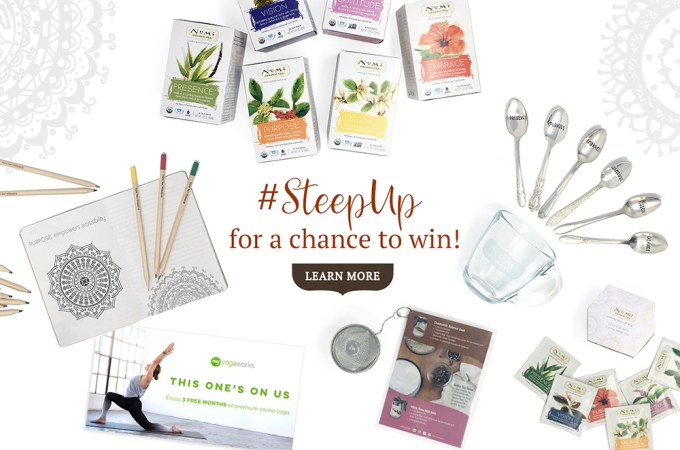 #SteepUp for a Chance to Win a Wellness Prize Package