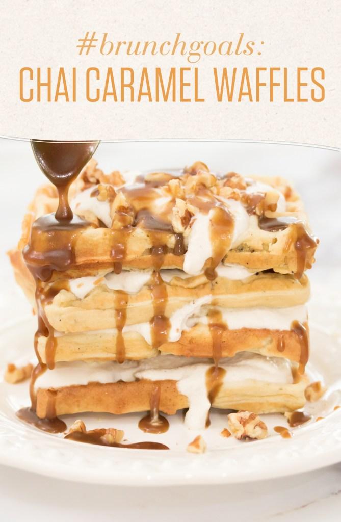 chai caramel waffles