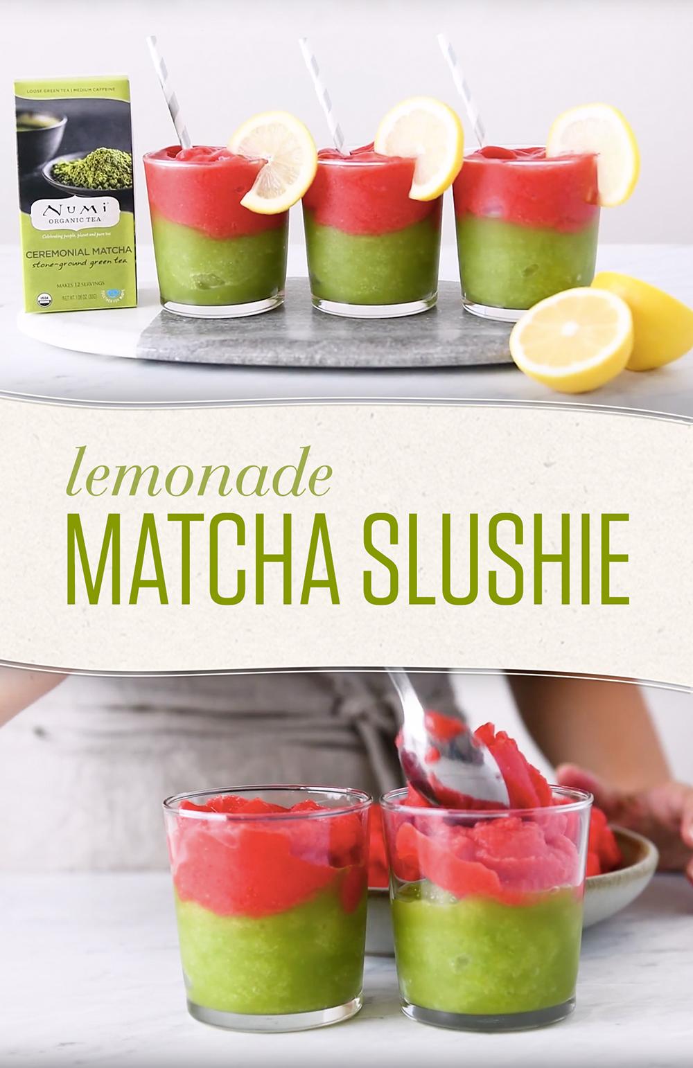 Matcha Lemonade Slushie