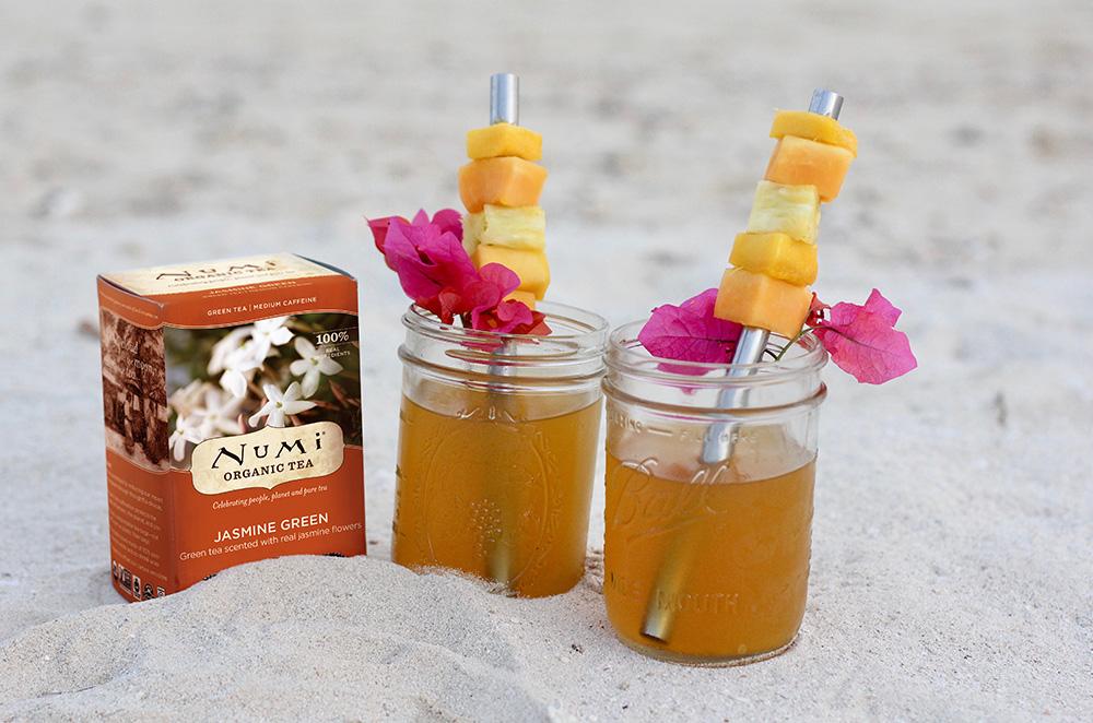 Tropical Arnold Palmer with Numi Jasmine Green Tea