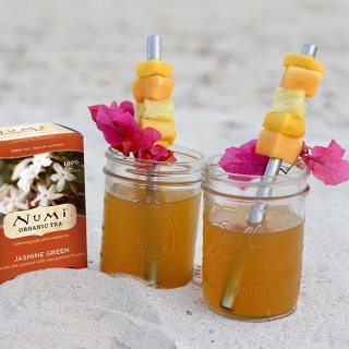 Tropical Arnold Palmer with Numi Jasmine Green Tea