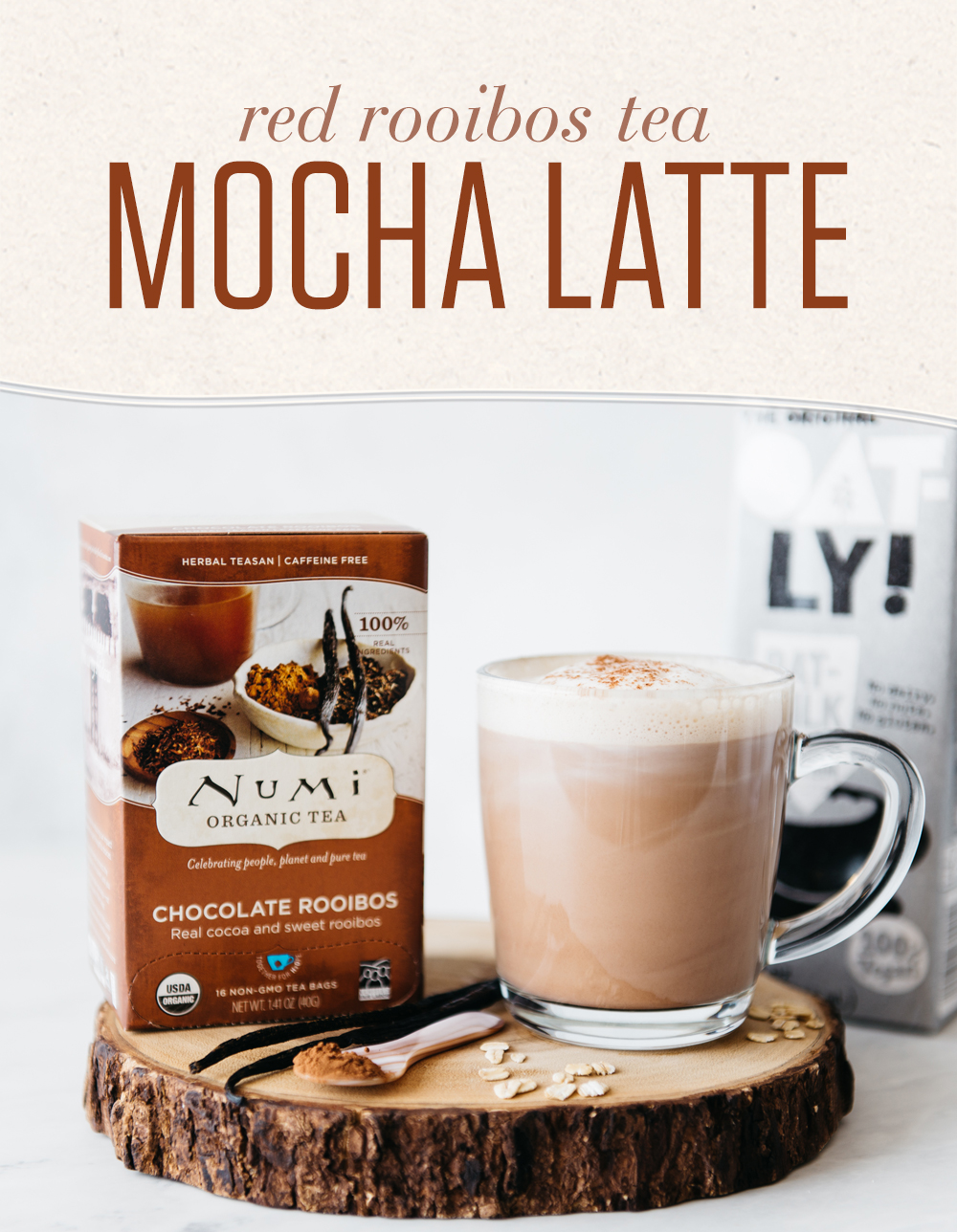 Red Rooibos Mocha Tea Latte