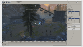 Zoom into the video with Sony Vegas using Panorama Cropping; dotted area marks the later visible part.